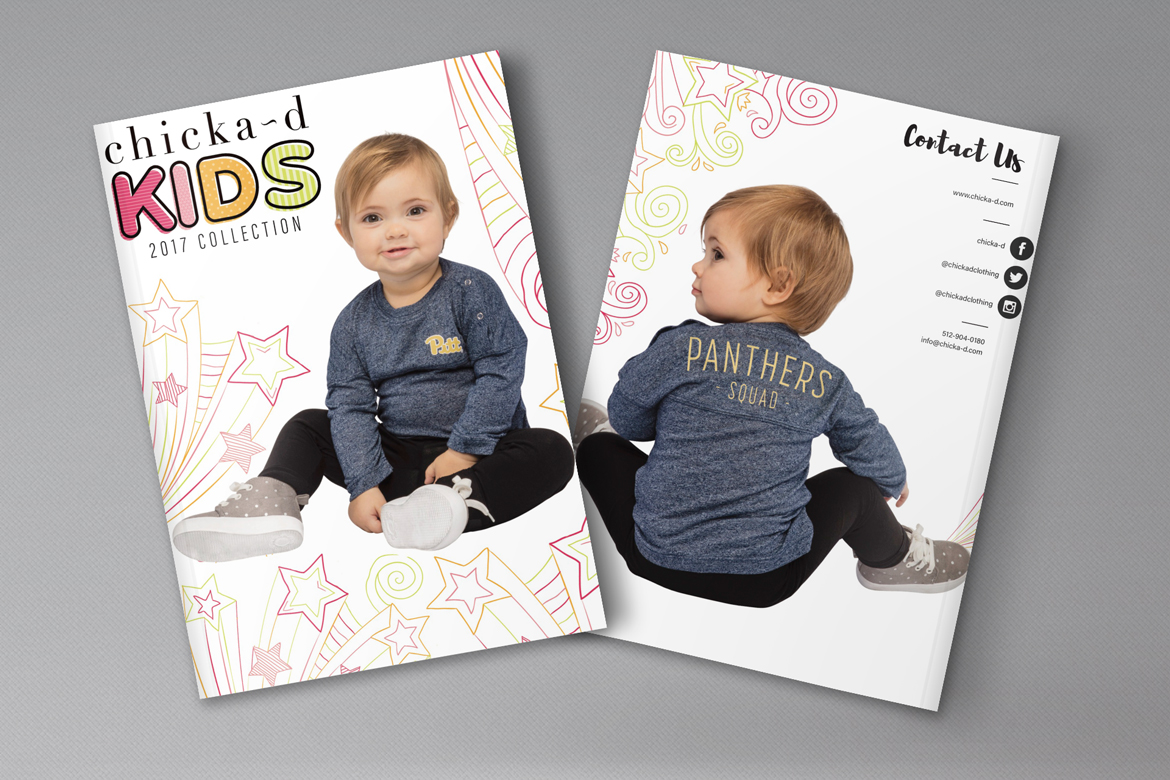 chicka-d kids Catalog design Sarah Overton